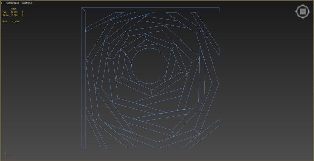 создание стола в 3d Max, line