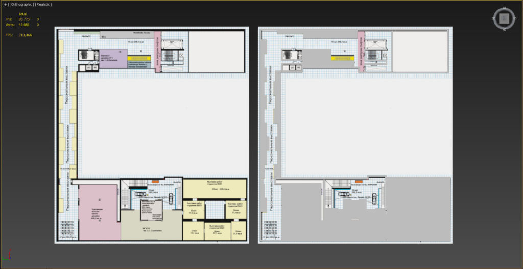 3d Max, создание плана этажа