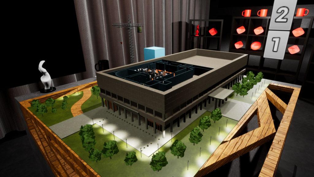 Макет в виртуальной реальности, архитектурный макет, выставочный макет